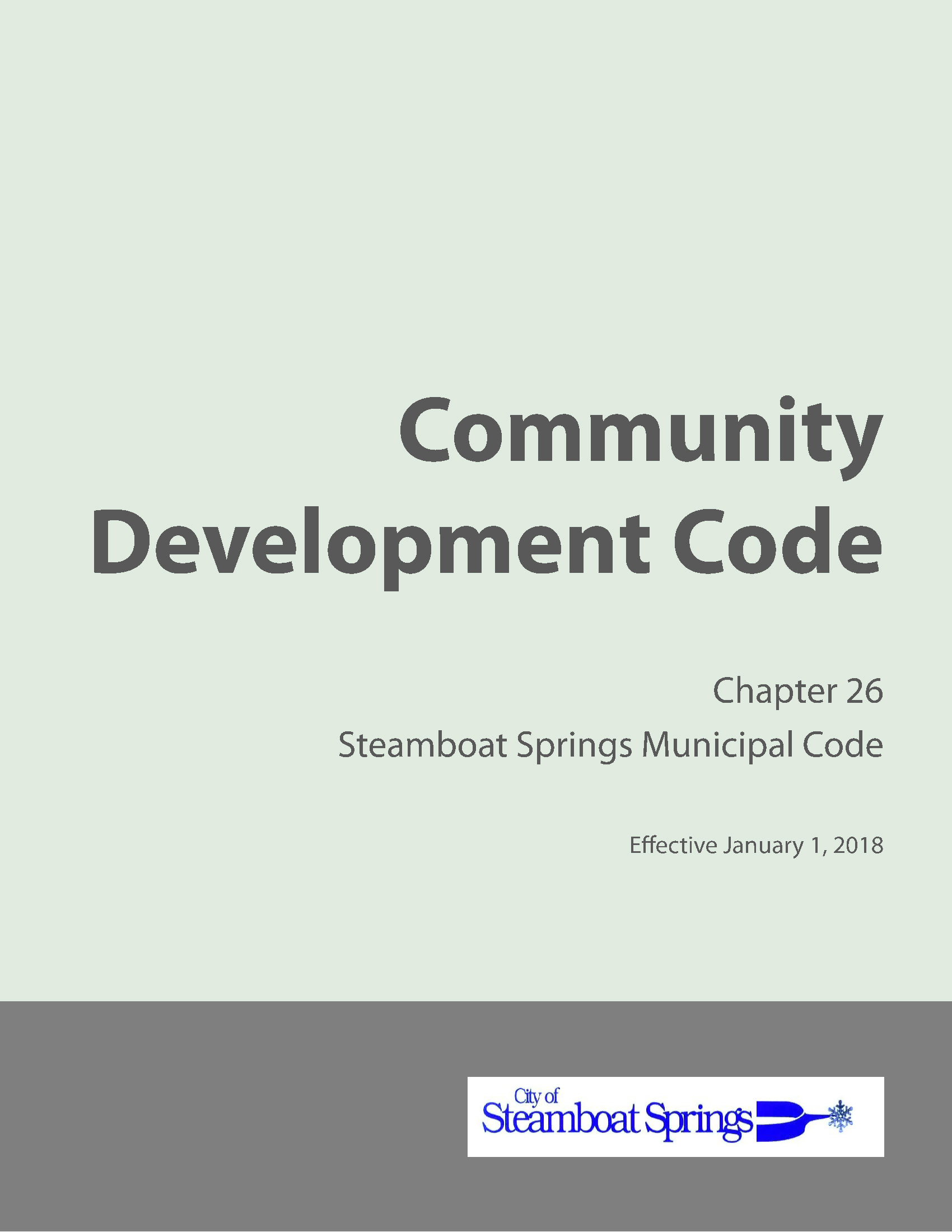 cover image of Community Development Code