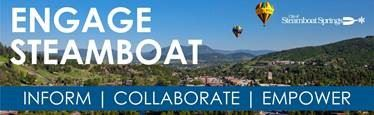 Enage Steamboat Banner with Inform, Collaborate and Empower written on it