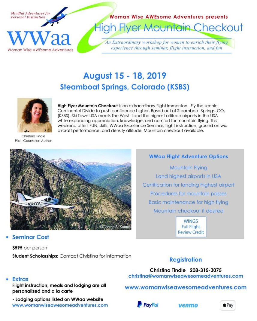 WWaa Flight Adventures Flyer